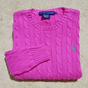 RALPH LAUREN Cotton Cable Knit Pullover Sweater XS